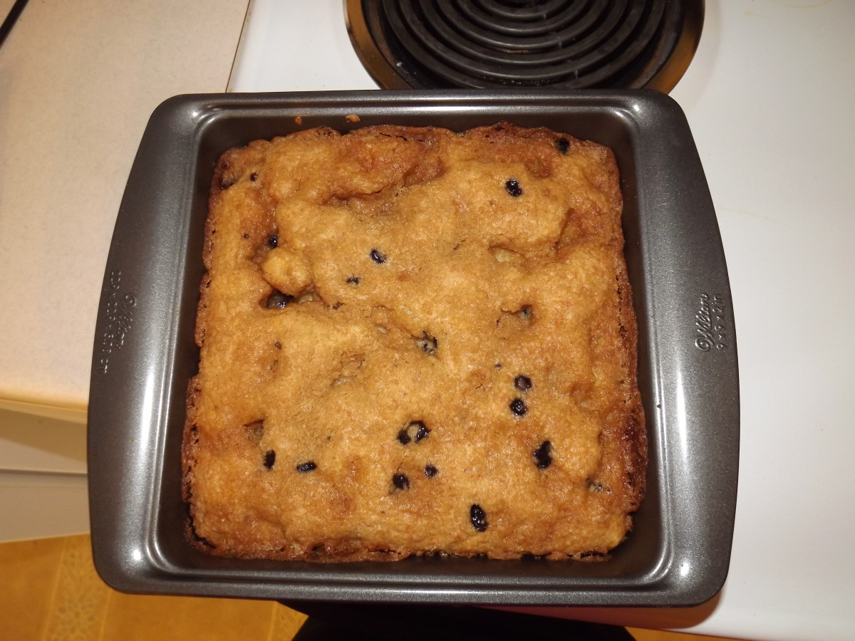 Finished Blueberry Coffee Cake. Mine was ready in 20 minutes.