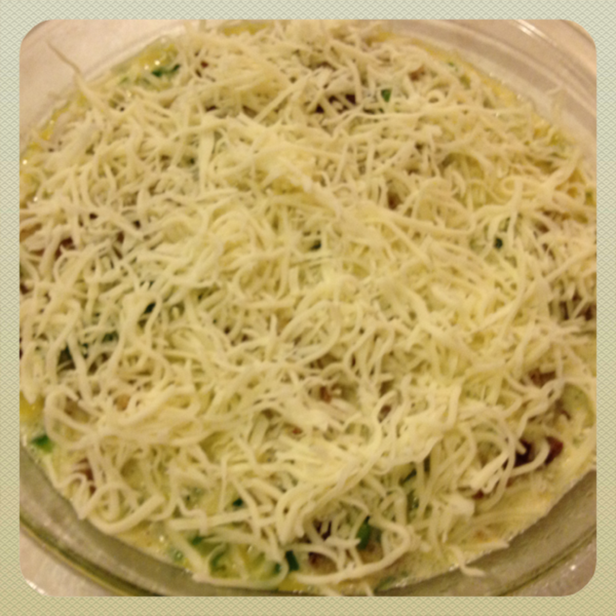 top with mozzarella cheese