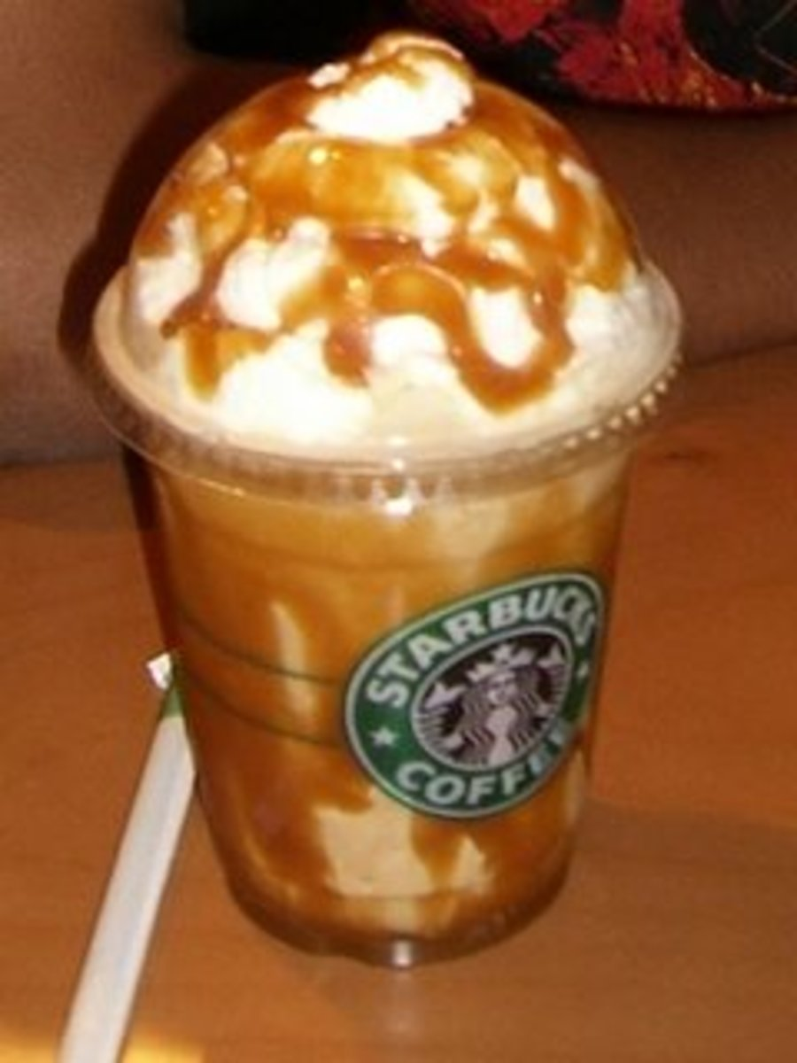 What's a Caramel Creme Frappuccino without tons of caramel drizzle?
