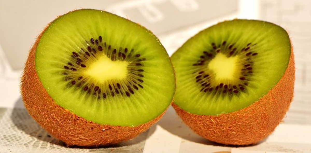 Kiwi are very sweet when they are ripe.