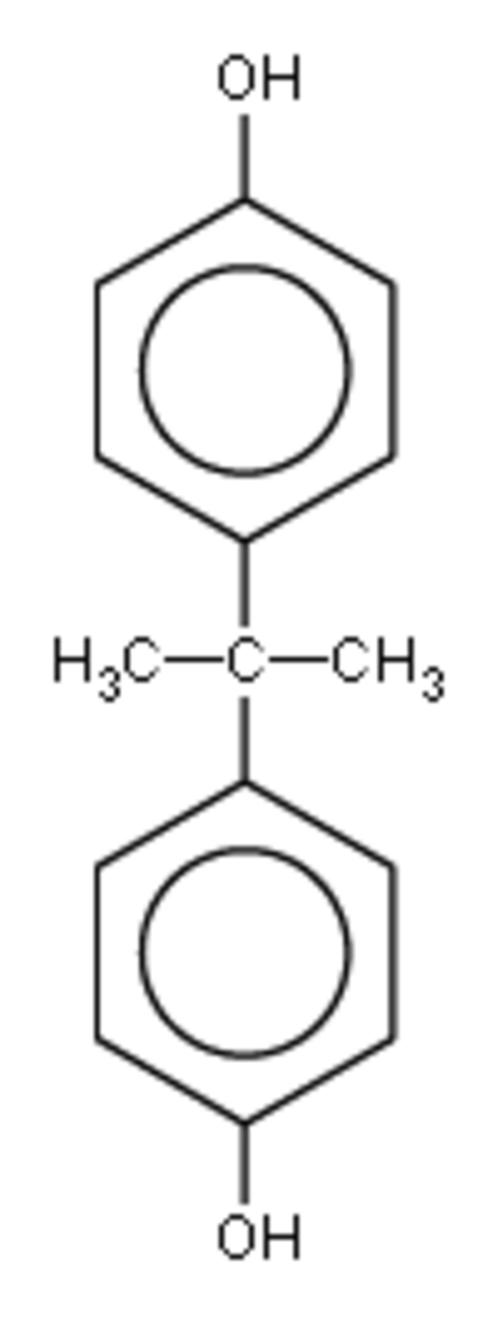 Bisphenol A chemical structure.