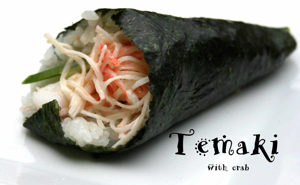 Temaki with crab