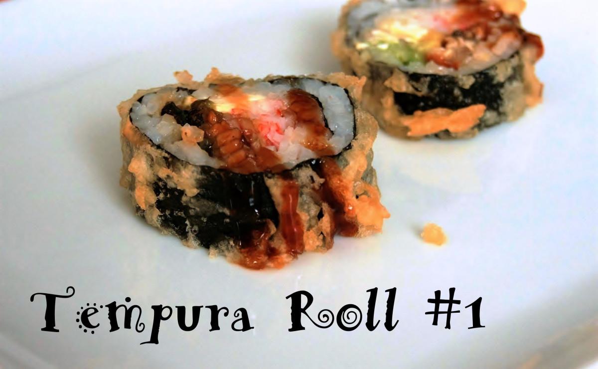 With the wrapper prepared tempura