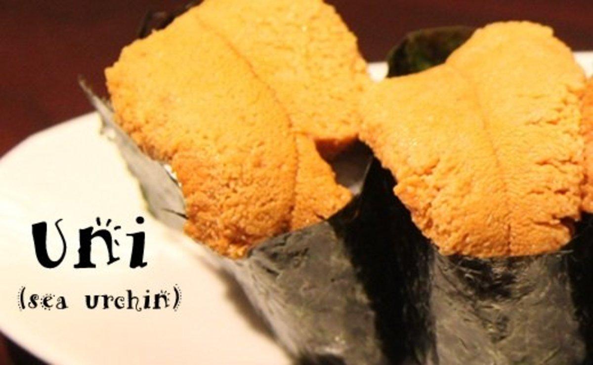 Uni (sea urchin) nigiri