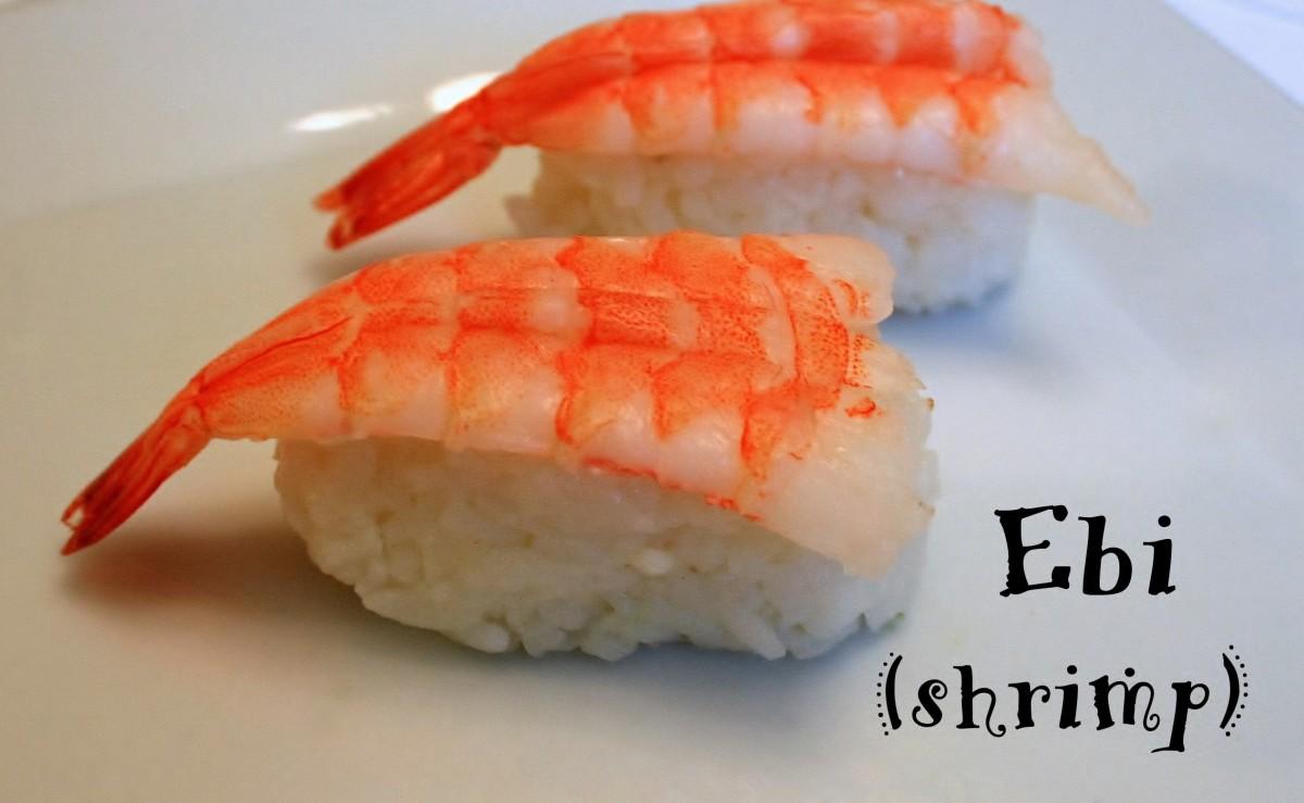 Ebi (shrimp) nigiri