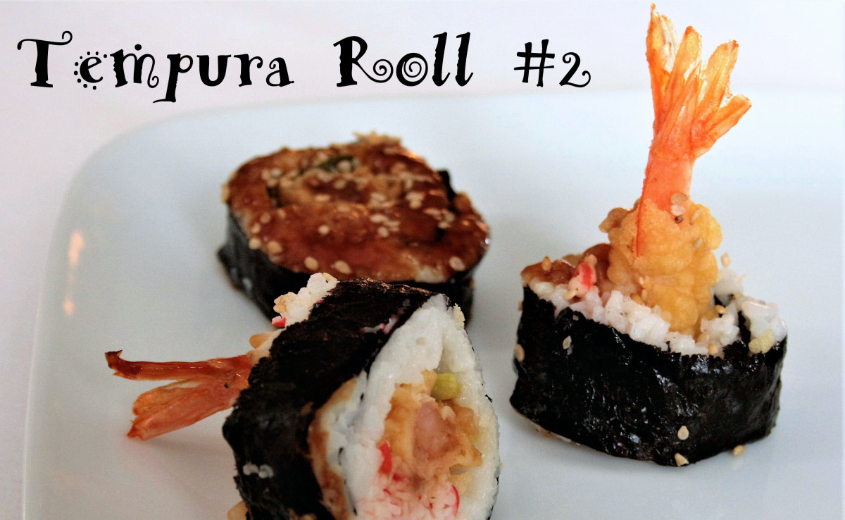 With the contents prepared tempura