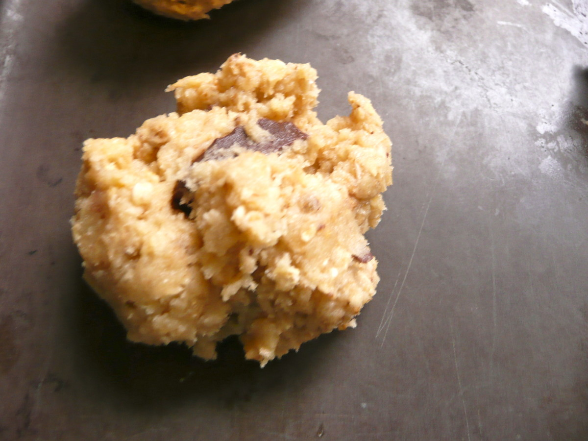 place spoonfuls on baking tray