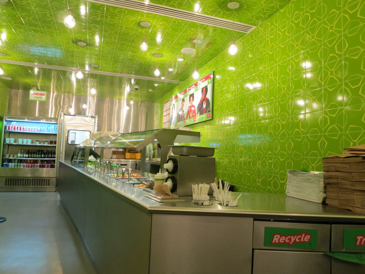 Inside of the Maoz on 43rd and 8th