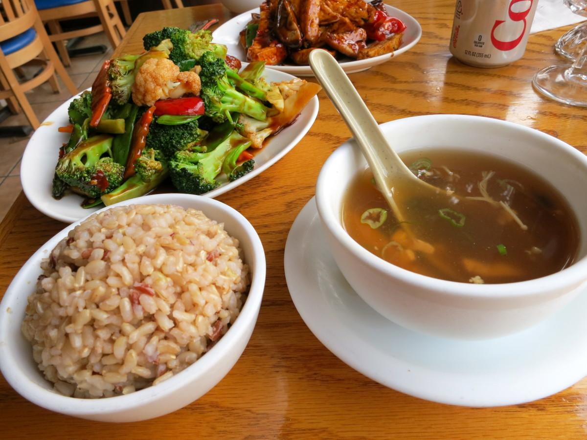Vegetarian Ginger, a vegetarian Chinese restaurant in Brooklyn.