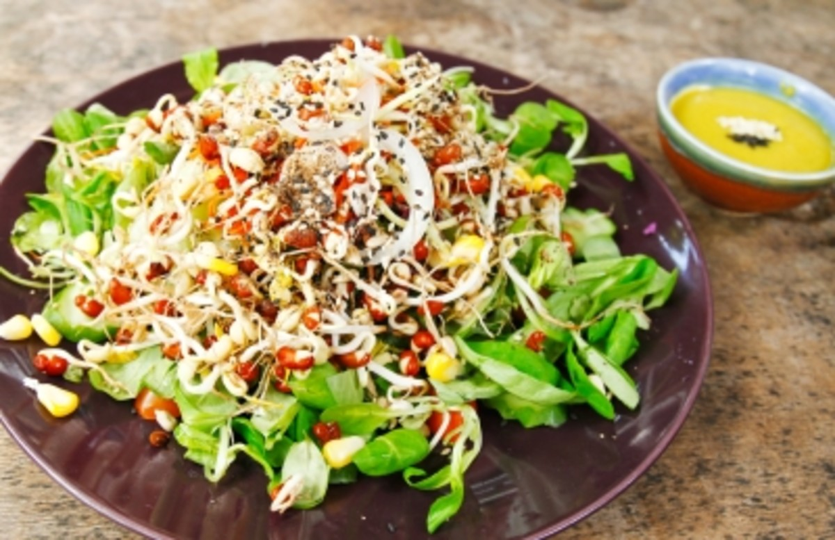 Sprouts grow from protein rich legumes and are a great topping for salads, wraps and sandwiches.