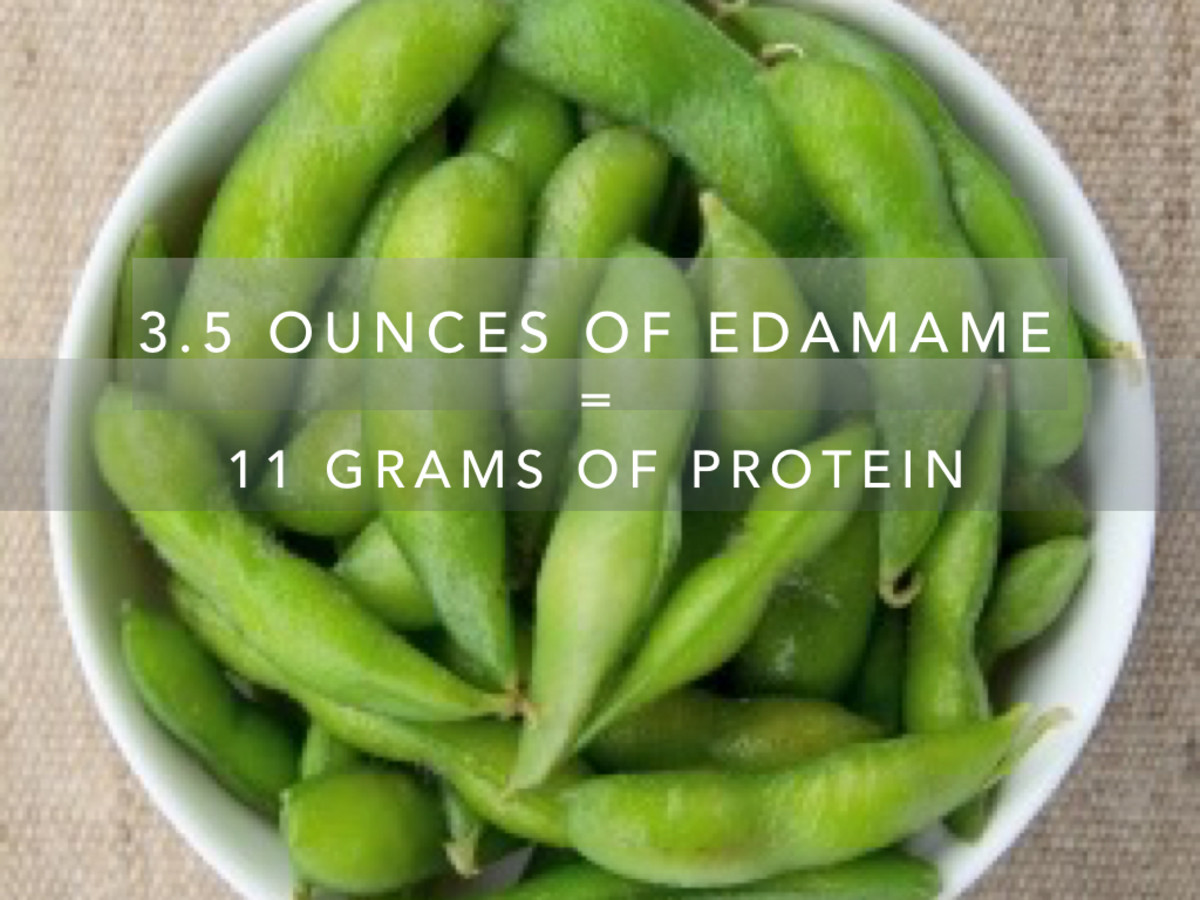 A 3.5 ounce serving of edamame will provide you with 11 grams of protein.