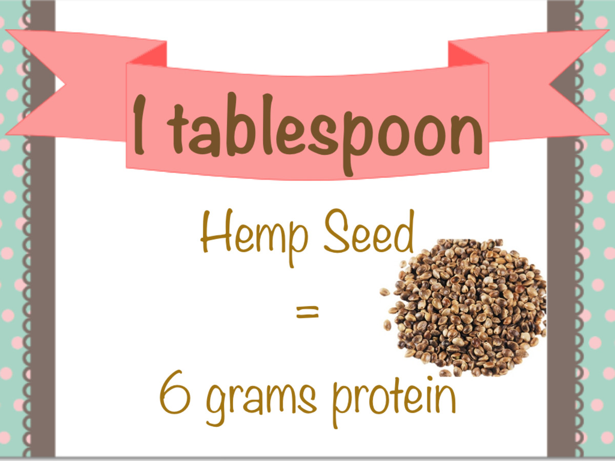 Hemp seeds are a great source of protein.