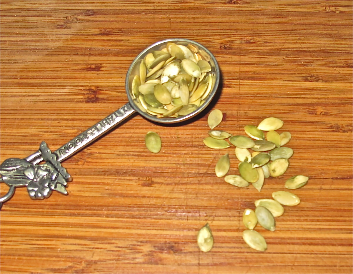 Pumpkin seeds add taste and protein to salads.