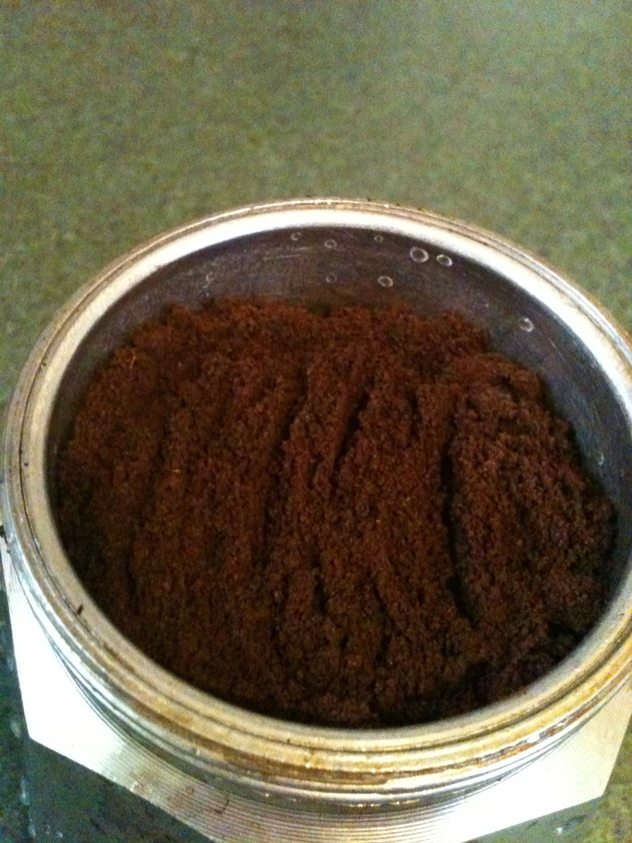Fill the basket with coffee grounds but not quite to the top - leave a little room for the grounds to expands as they get wet.