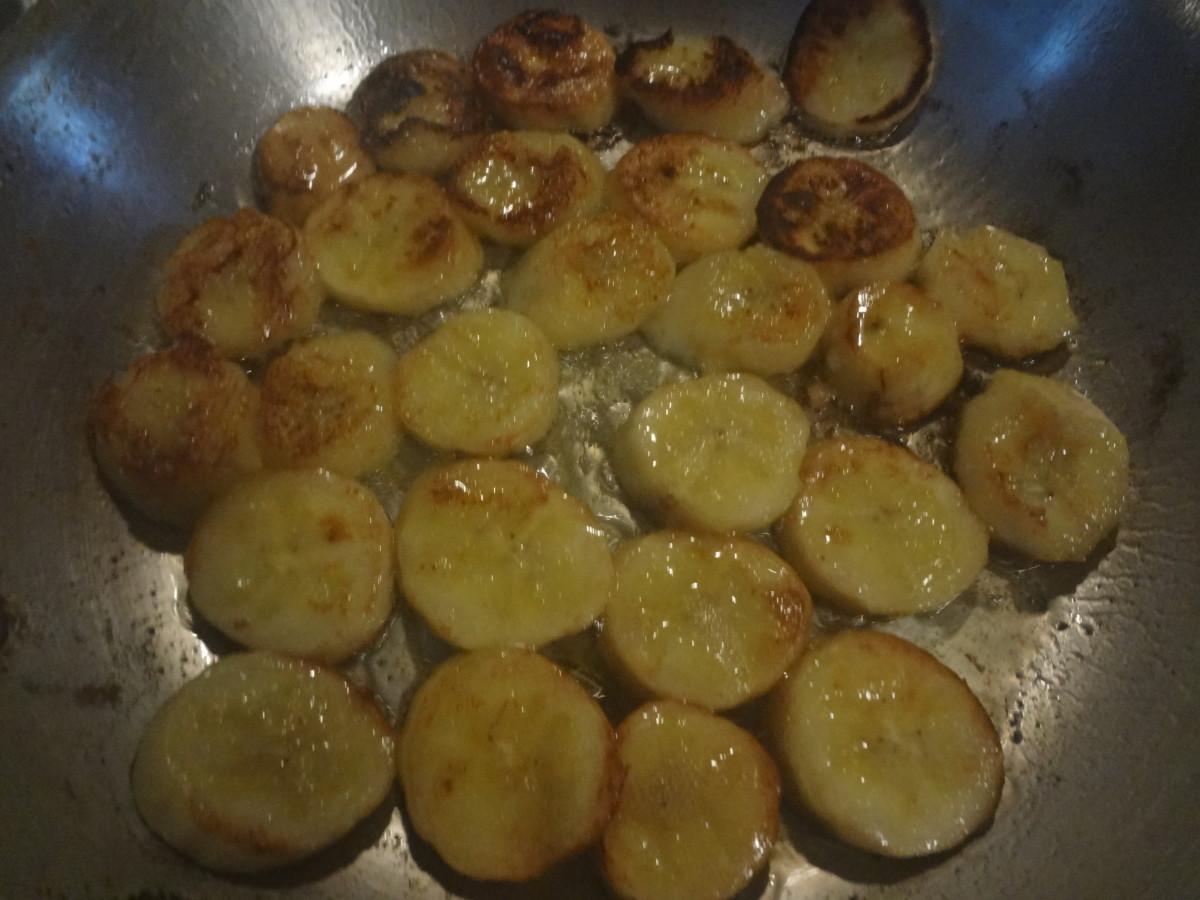 Sauteeing Bananas