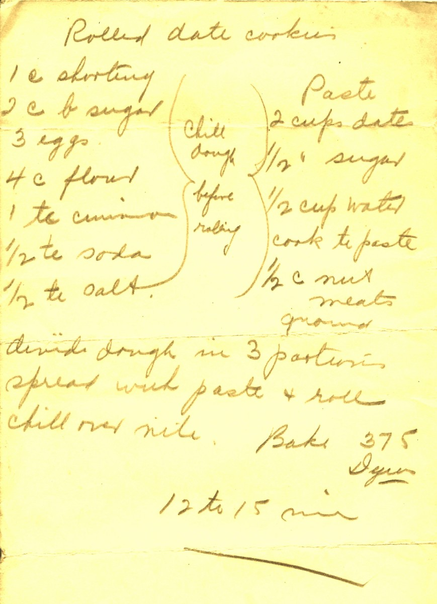 My Grandma's hand-written recipe