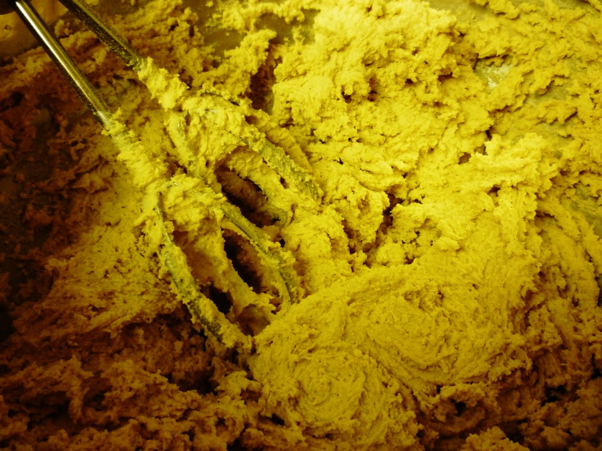 Mixed batter ready to be chilled