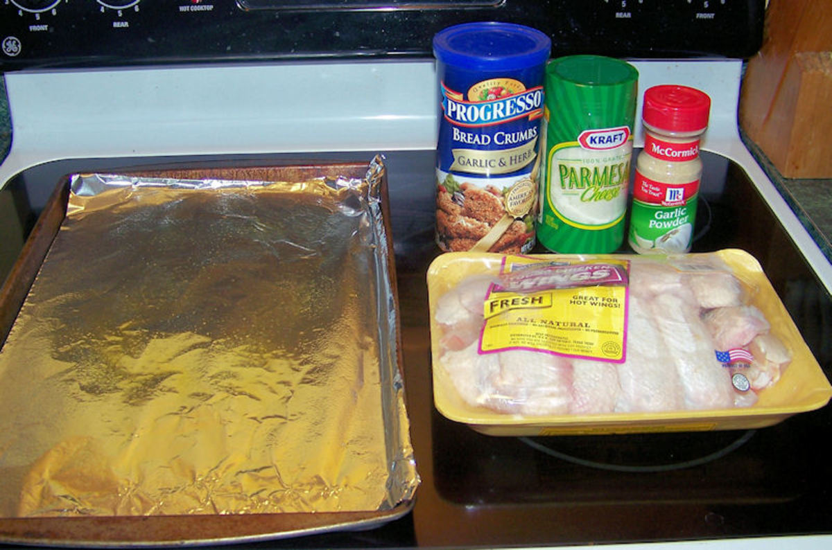 Assemble the ingredients - Not shown - 1/4c. melted butter.
