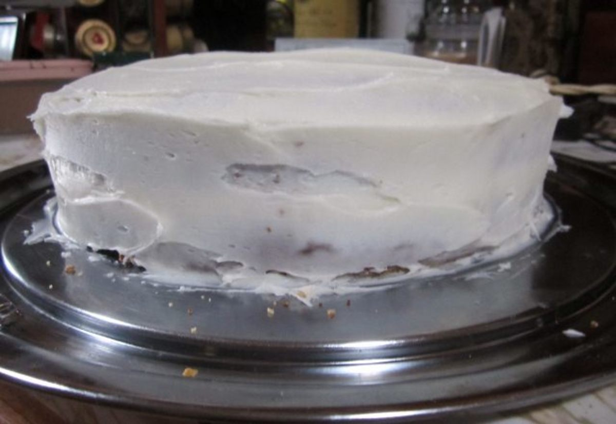 Cream cheese frosted tomato soup cake. Delicious!