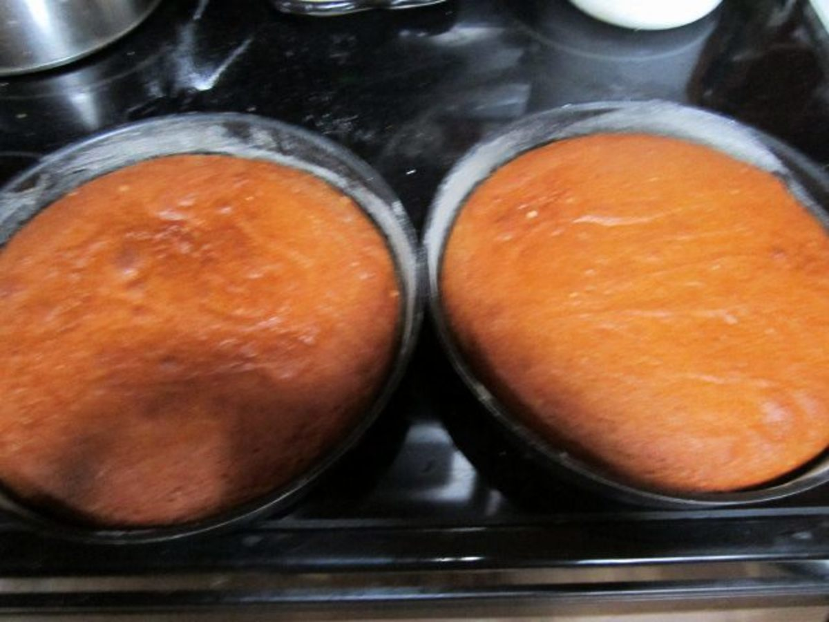 Tomato soup cake fresh out of the oven