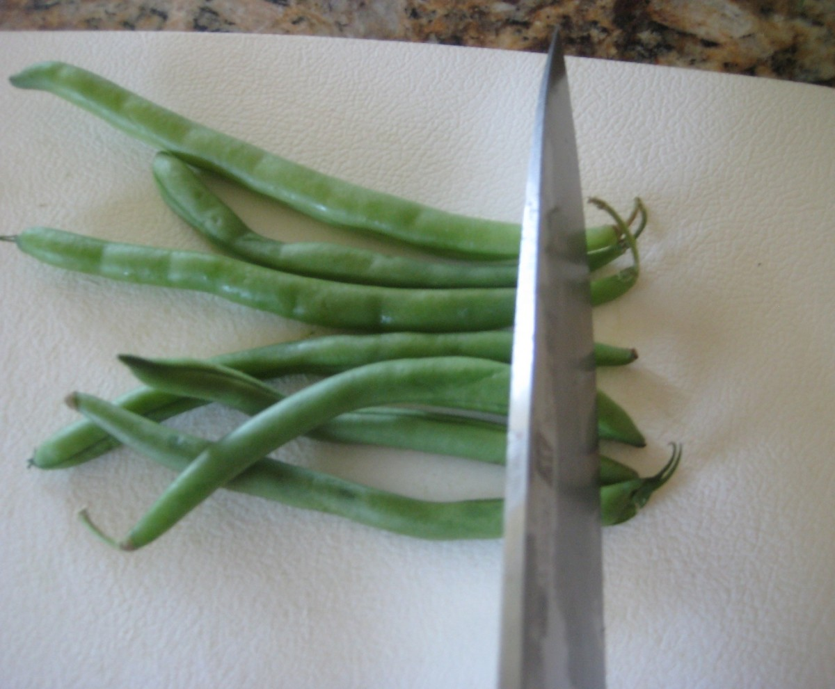 Chop or snap the stems and ends off of the beans. You may also snap the beans in half, or leave them whole if you prefer.