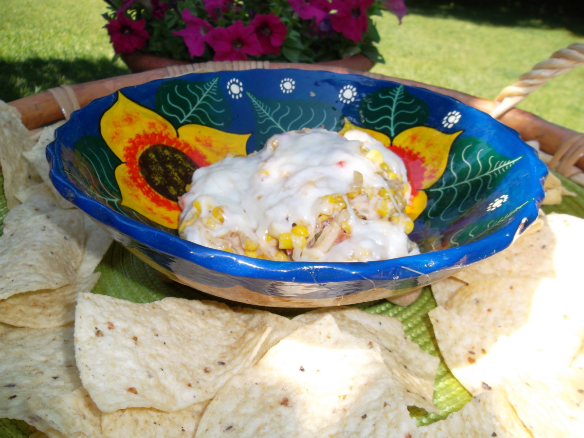 Hot corn dip is a great party dip for summertime or any time
