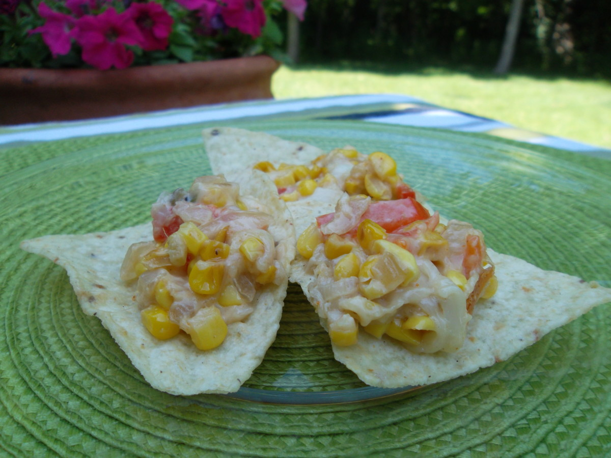 Serve hot corn dip with tortilla chips
