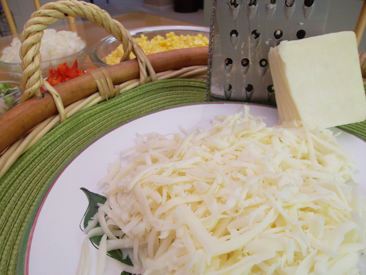 Grate Monterey Jack cheese
