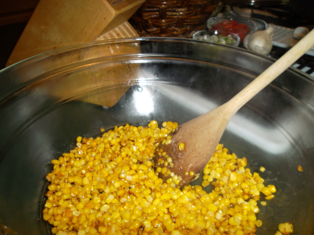 Put corn in a bowl to cool and set aside