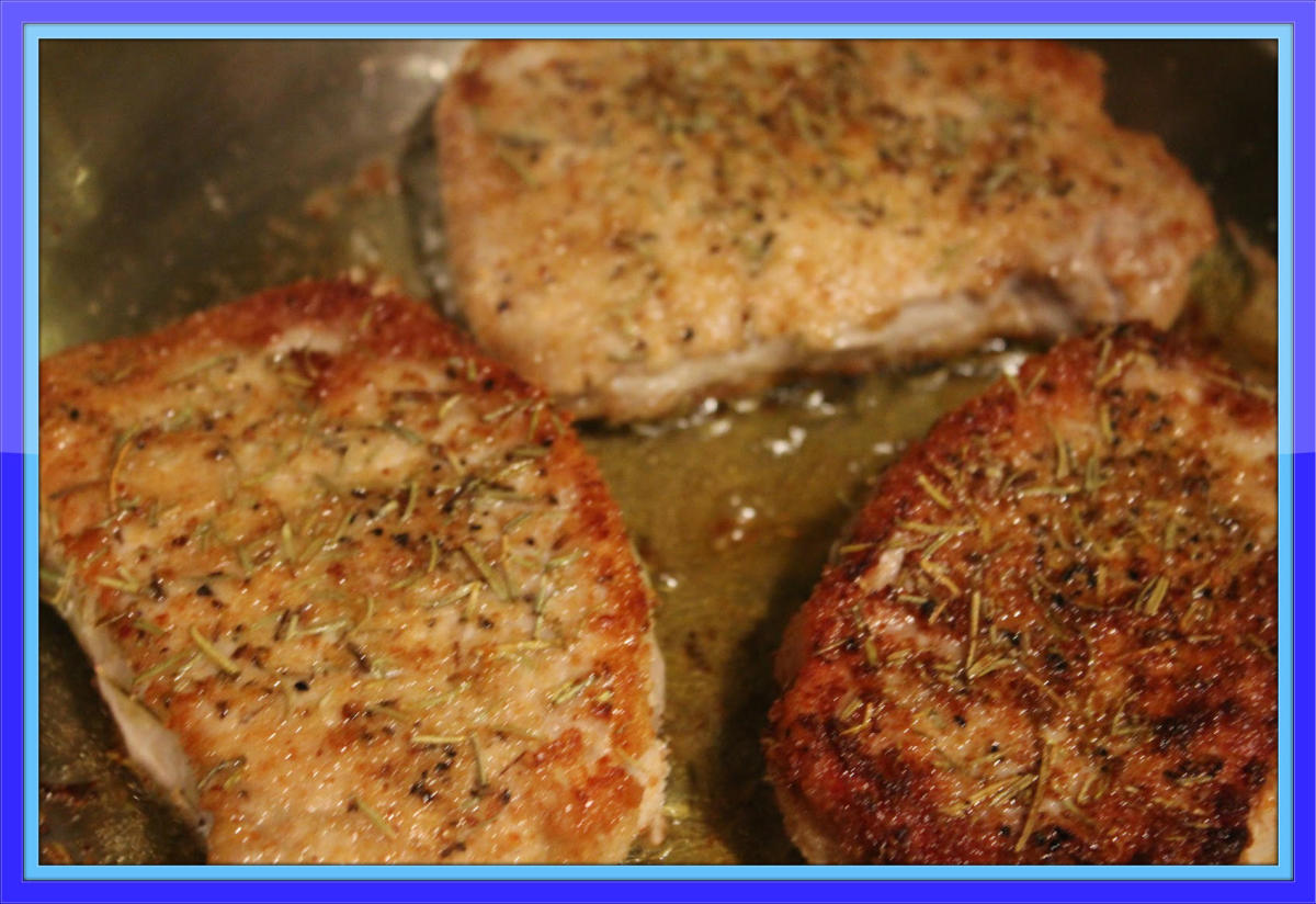 Lemon rosemary pork chops are oh-so-delicious.