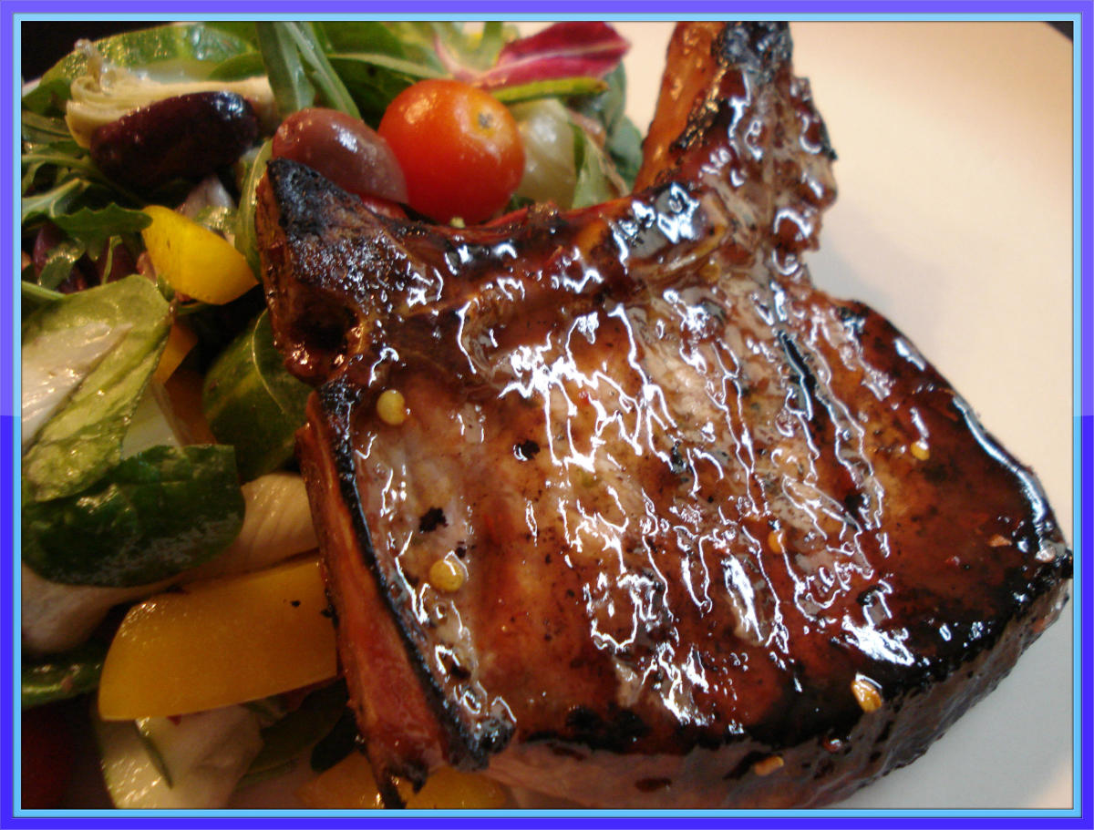 These glazed grilled pork chops are one of my favorites.