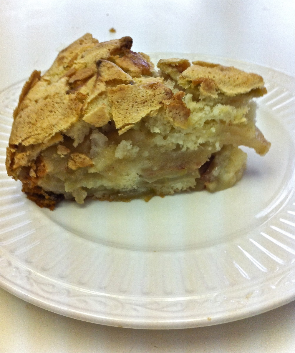 Russian Apple Charlotte (Sharlotka) may look like pie, but it's considered a cake.