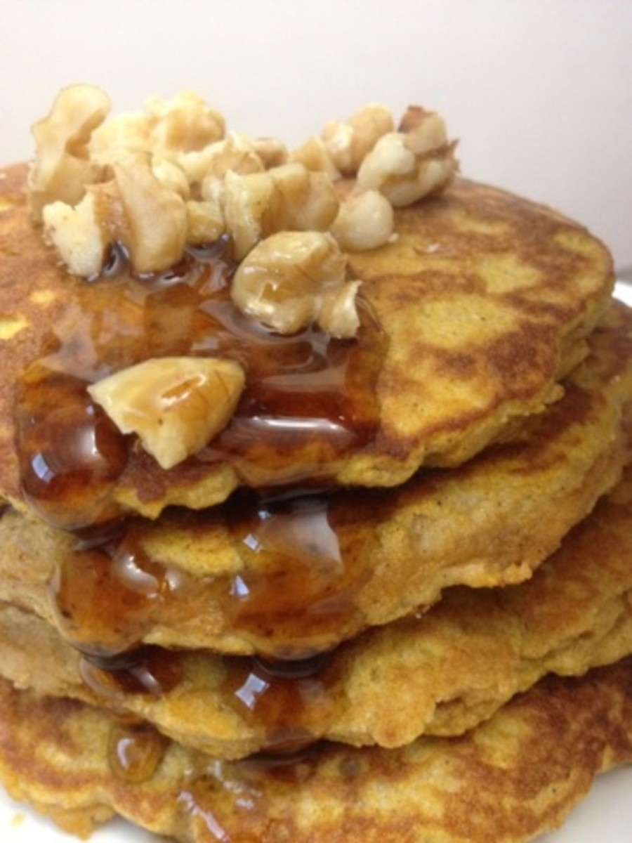 Nuts are important in a paleo diet. Top your pancakes with walnuts!