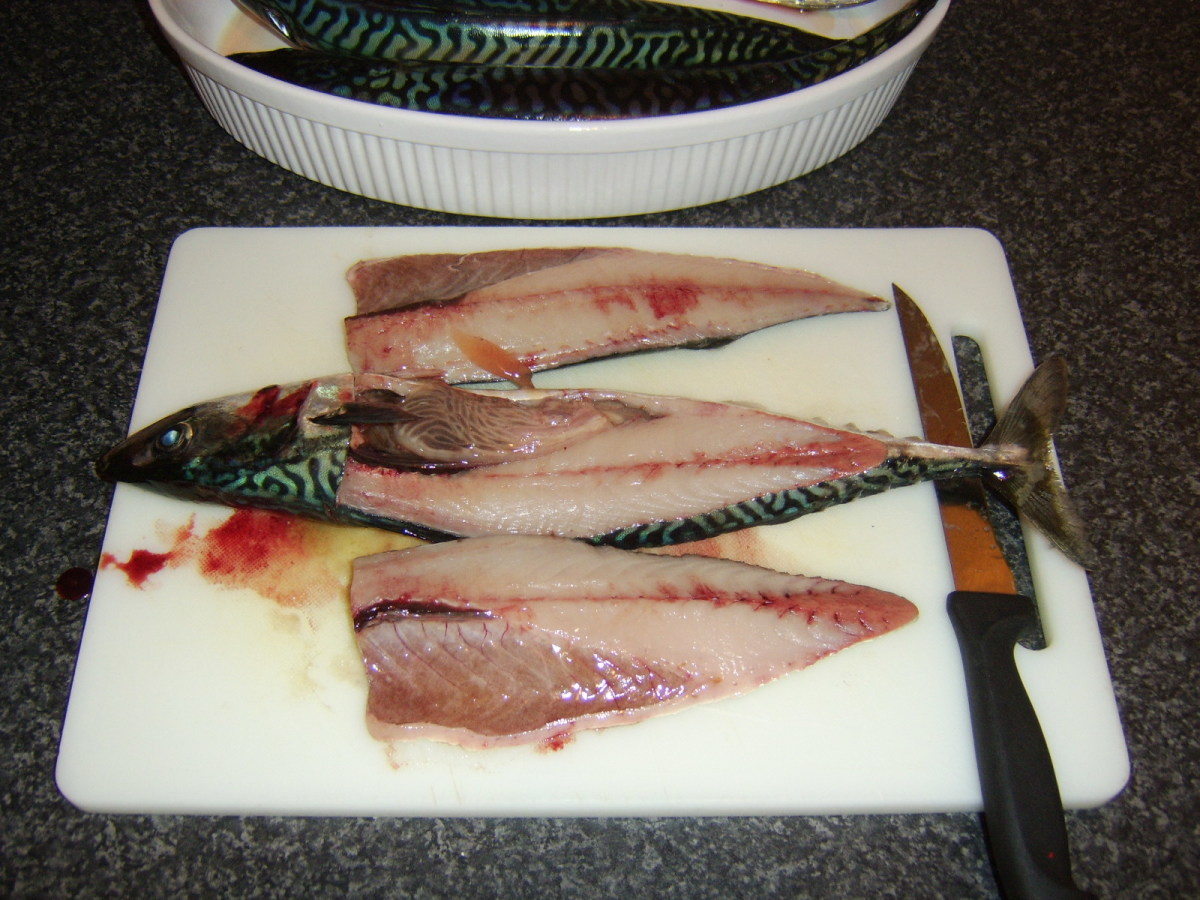 Loin fillet number two is taken from mackerel