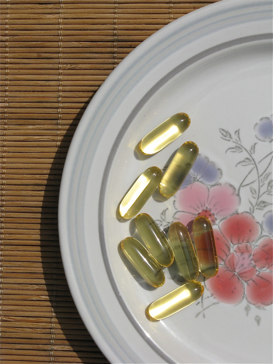 Some omnivores take gelatin capsules filled with fish oil as a supplement.
