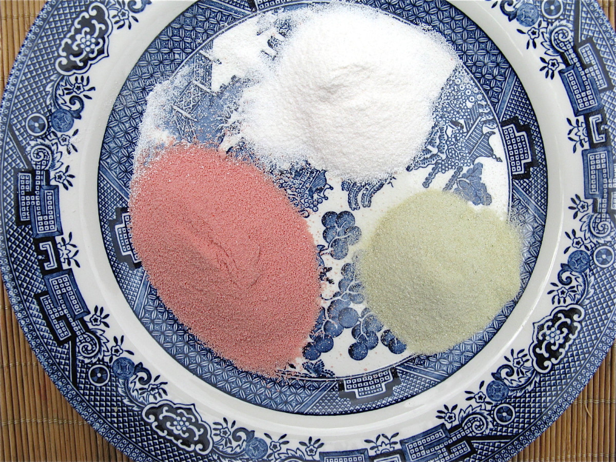 Colored and flavored jelly powder