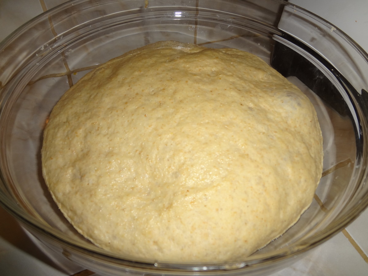 3. Allow dough to rise.