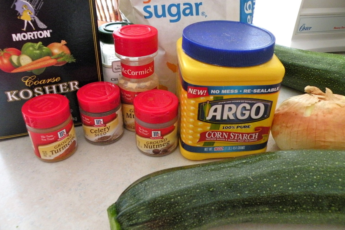 Ingredients for Sweet Zucchini Relish