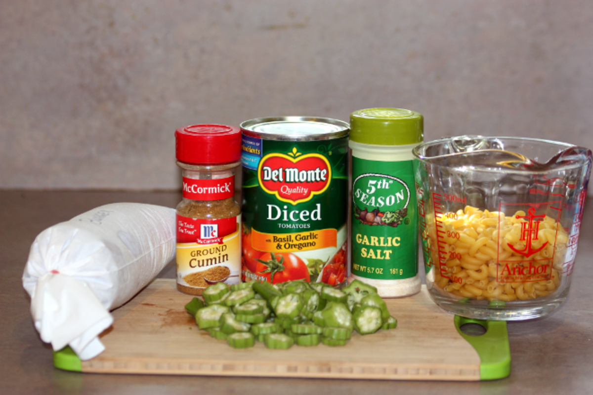 Okra Goulash Ingredients