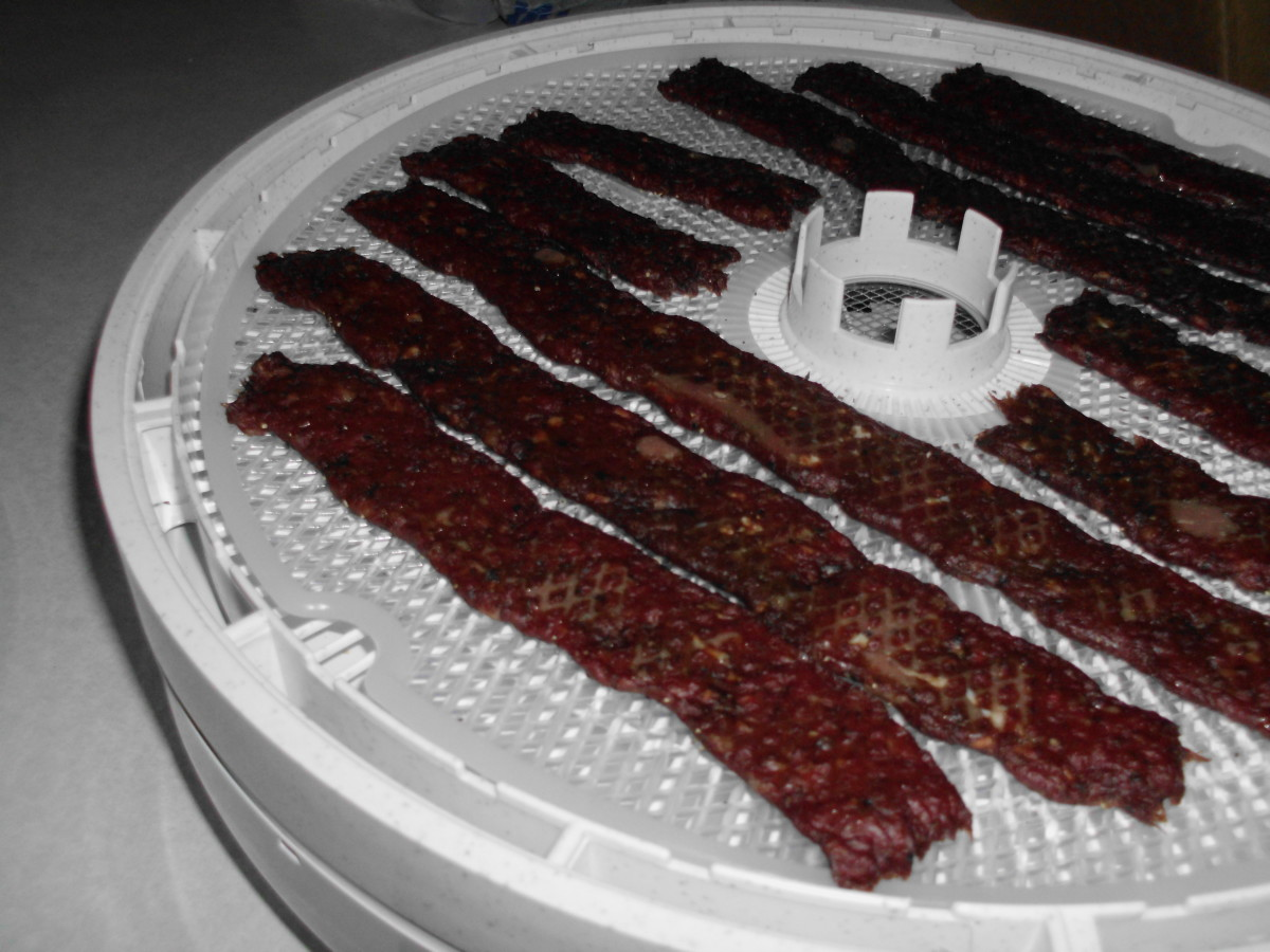 Jerky in the dehydrator