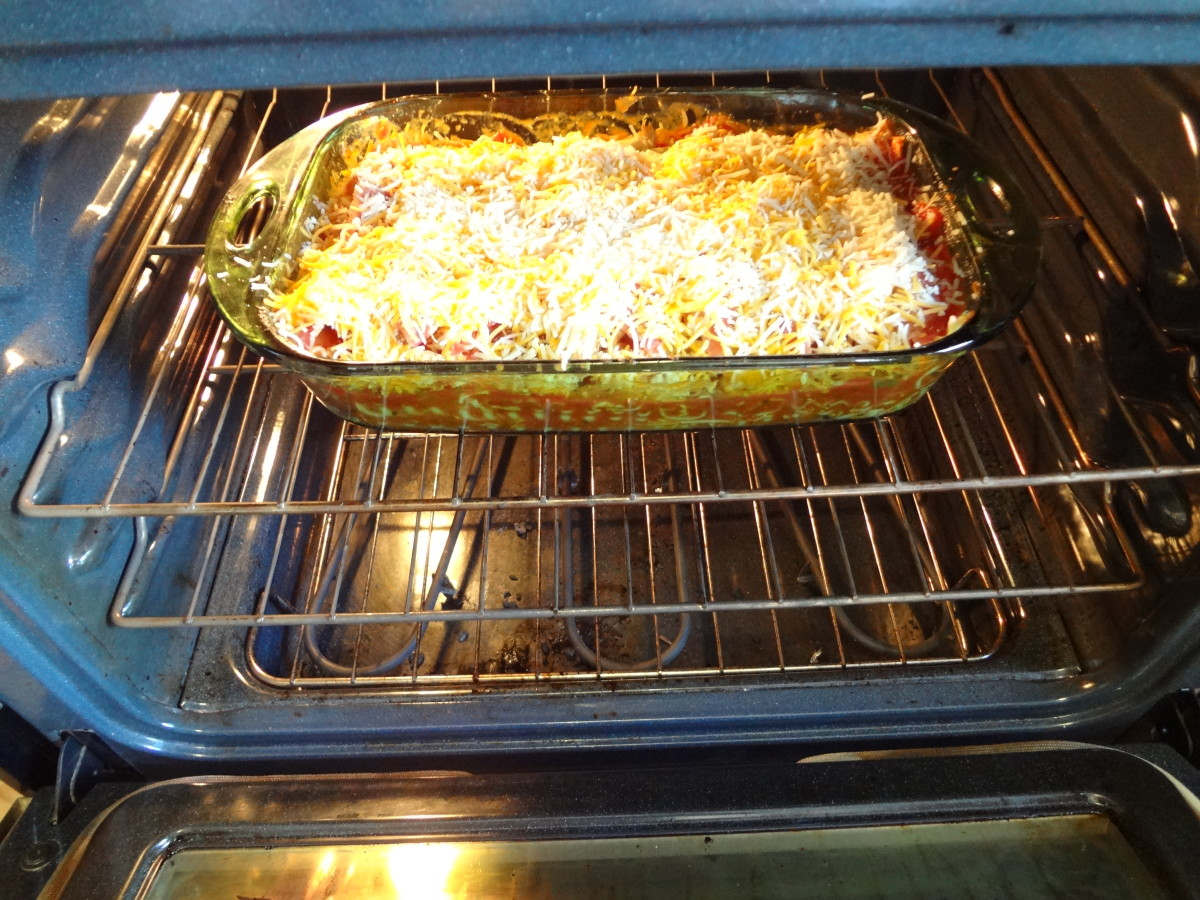 Cook the lasagna on a rack in the middle of the oven.