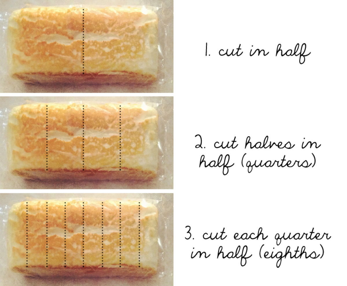 How to cut angel food loaf or pound cake into even slices