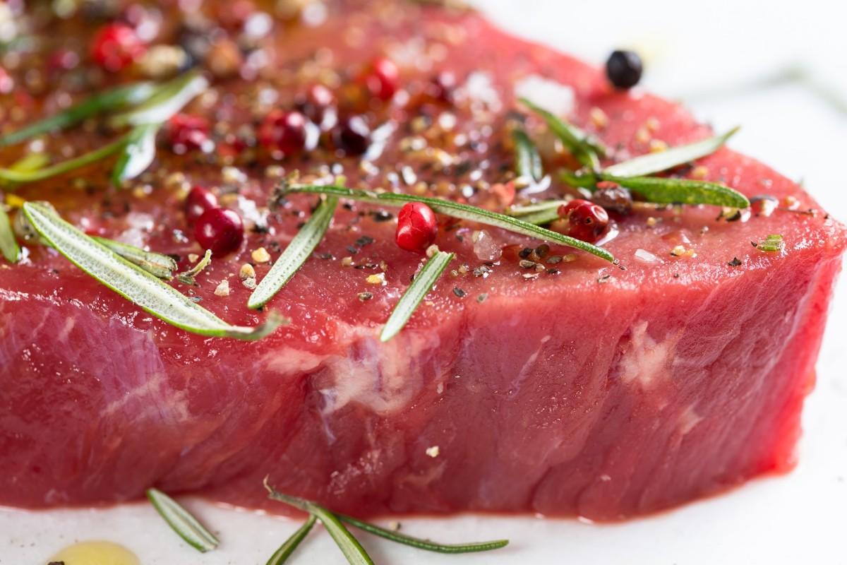 Thick steak cut