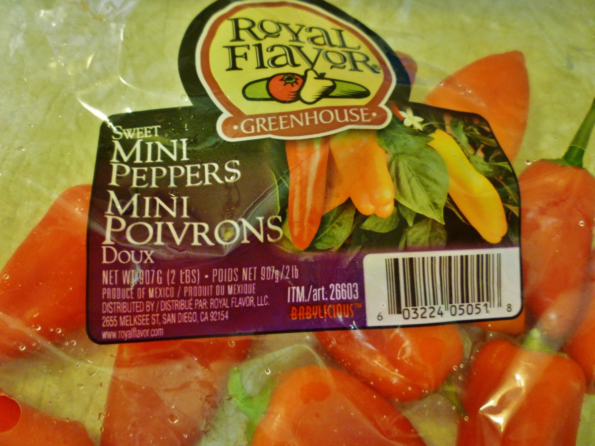 Bag of the mini peppers that we like to use.