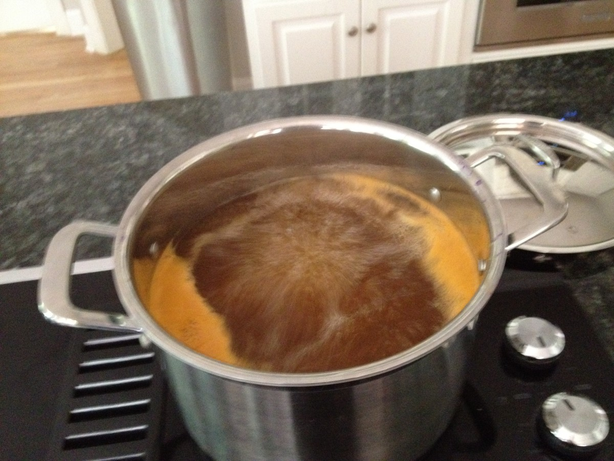 Season the boiling water with salt and Old Bay Seasoning.