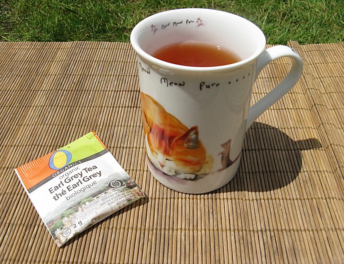 A cup of organic Earl Grey tea