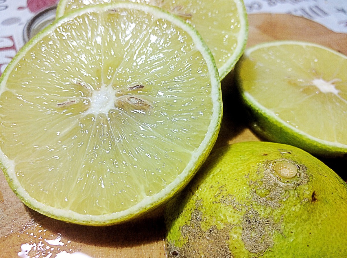 The flesh of bergamot oranges