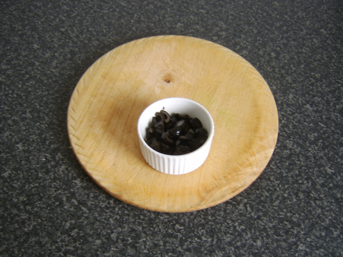 Chopped black olives