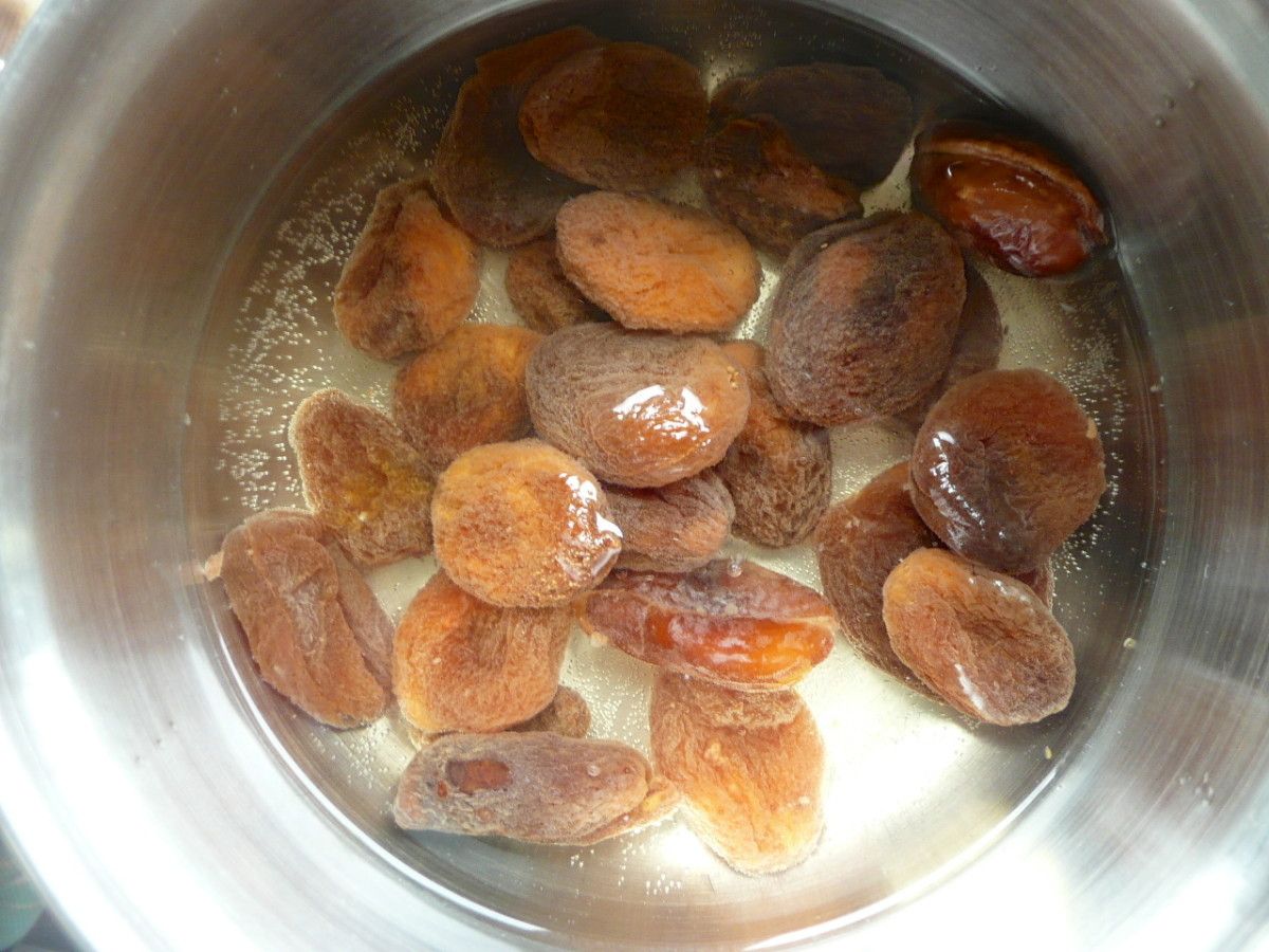 Place apricots in a pan with the water