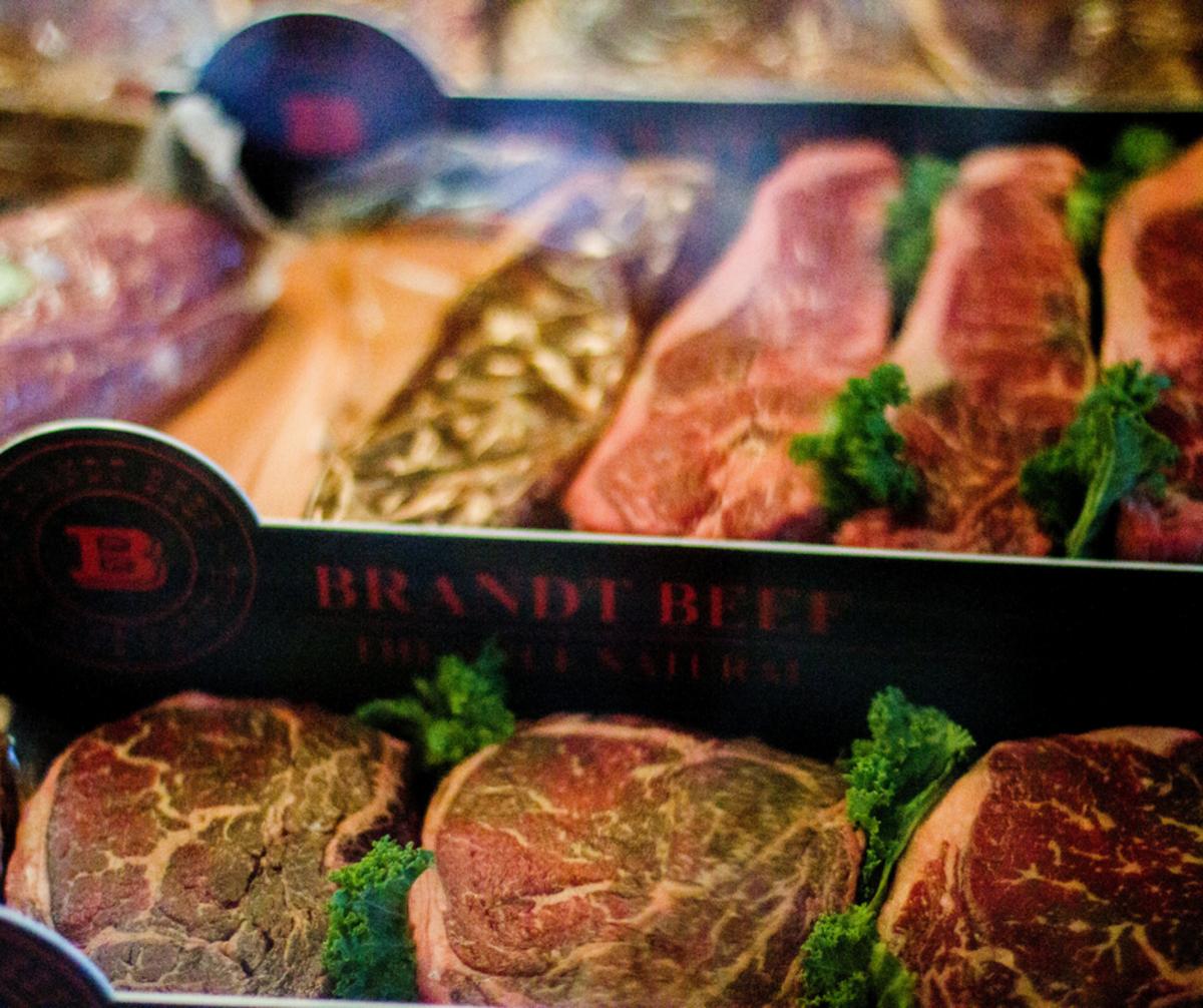 A rib-eye cut of beef.
